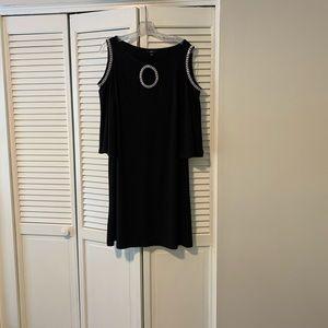 MSK Black Embellished Cocktail Dress. XL